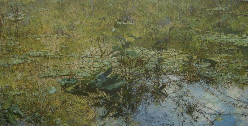 """Spring Run"" Oil/Linen 72"" X 144""  2008"