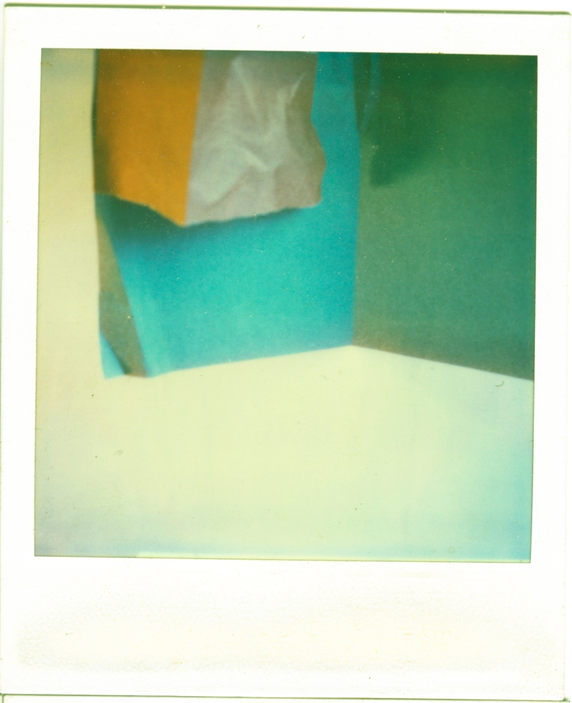 Polaroid of Colored papers, 2 light sources.....