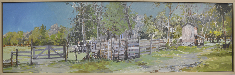 "Dudley Journal  Oil/Panel 12"" X 40"" 3-'09"