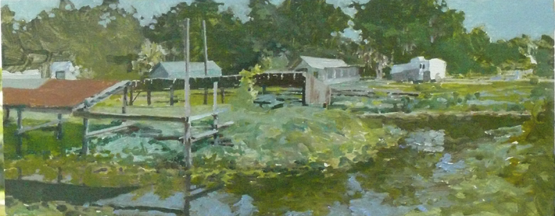 SportsMan's Cove, McIntyre  Oil/Panel  3-'08