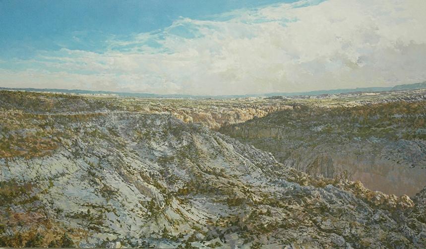 """Boulder Road  44"""" X 72"""""""