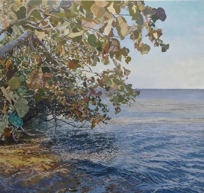 """Mangrove Bay  60"""" X 65"""" Oil/Linen"""