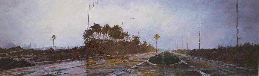 """""""Causeway"""" 12"""" X 40"""" Oil/Linen"""