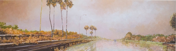 "Causeway II, 12"" X 40"" Finished; Aug9, '13"