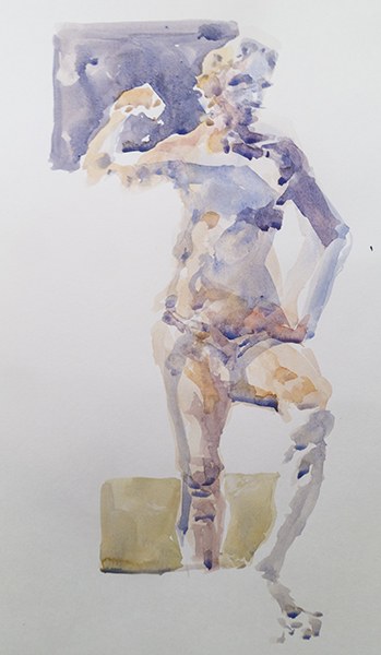 "Watercolor Figure Study 6"" X 12"""