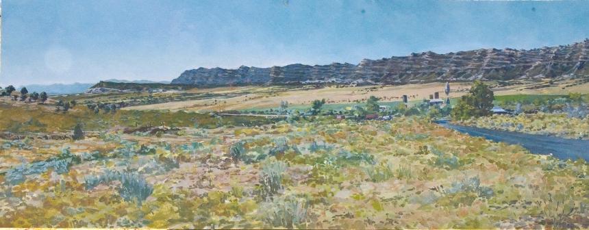 """""""Sawmill""""  Oil/Panel  12"""" X 36""""  2005"""