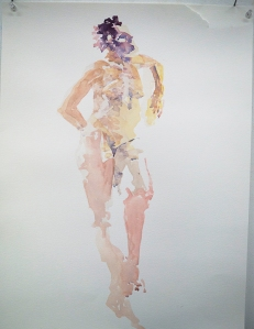 "Watercolor study 24"" X 18"" Sept 2014"