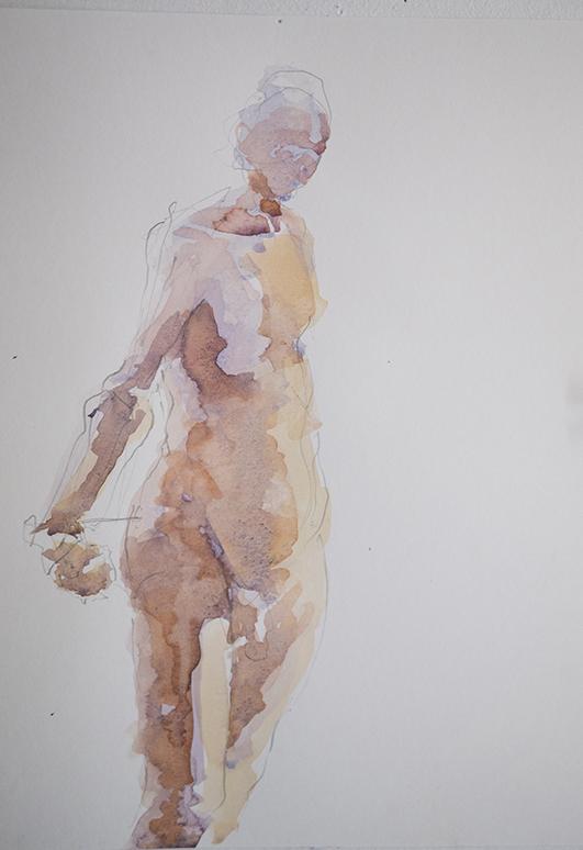"Watercolor 9"" X 12"" Sept. 2014"