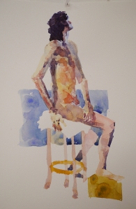 Longer Study, David Sitting