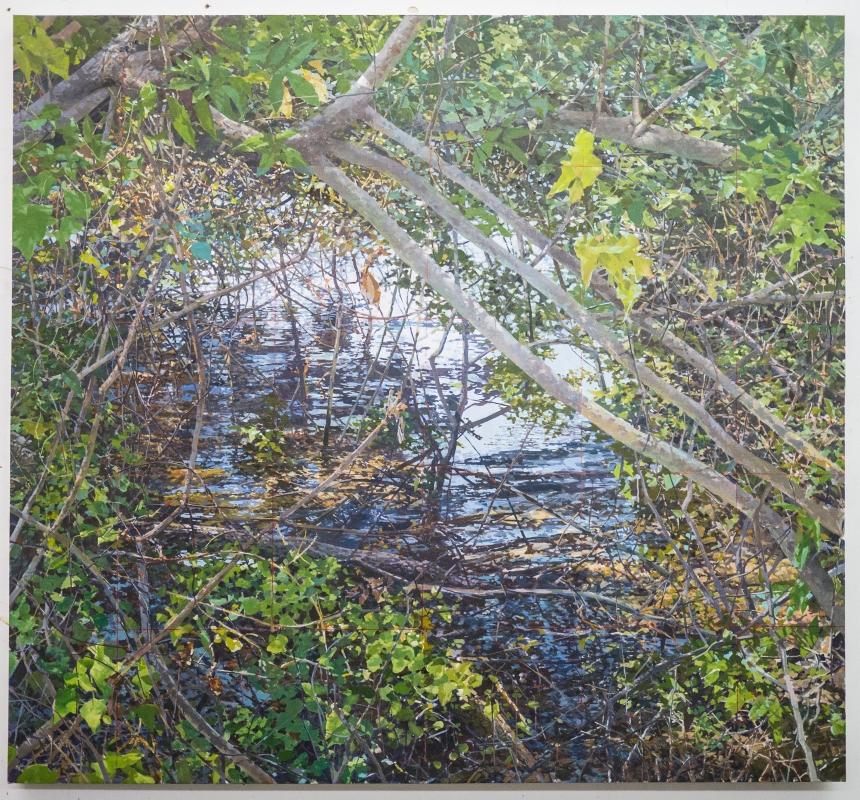 """""""River Weeds""""Oil/Linen, 60"""" X 65"""""""